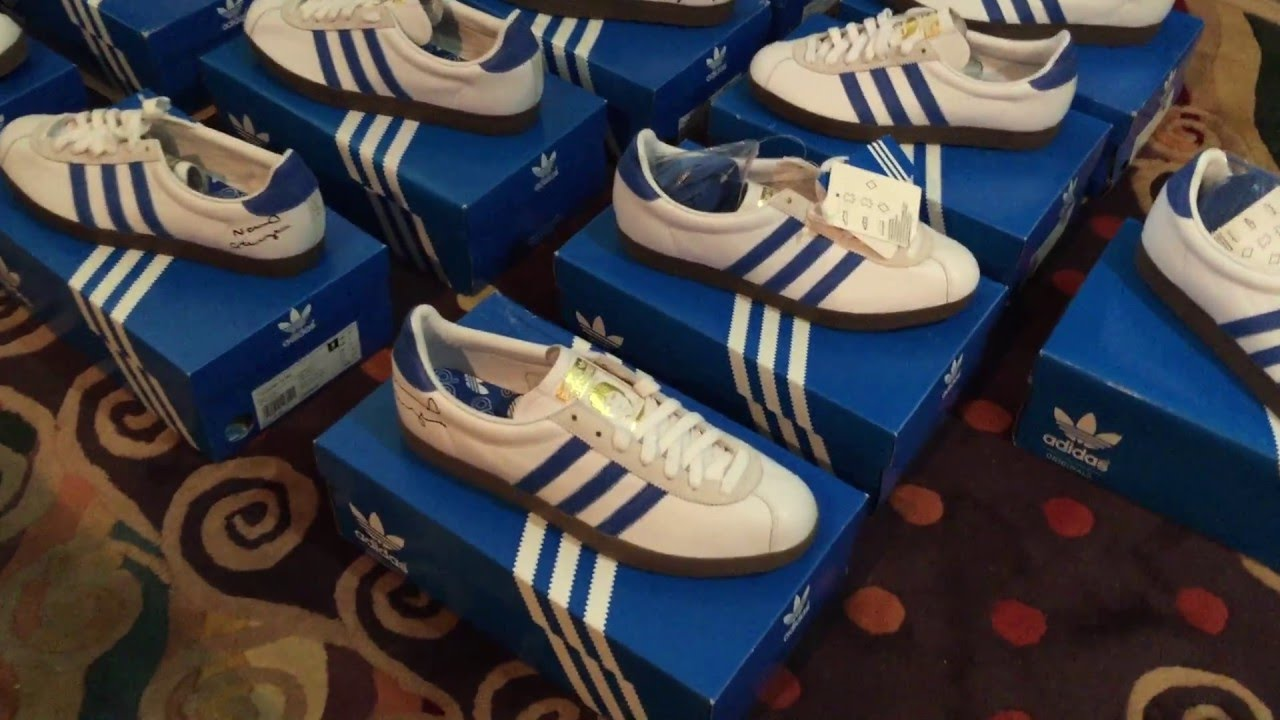 2e83fca8e83 Noel Gallagher Adidas NG 72 Trainers Oasis collection - YouTube