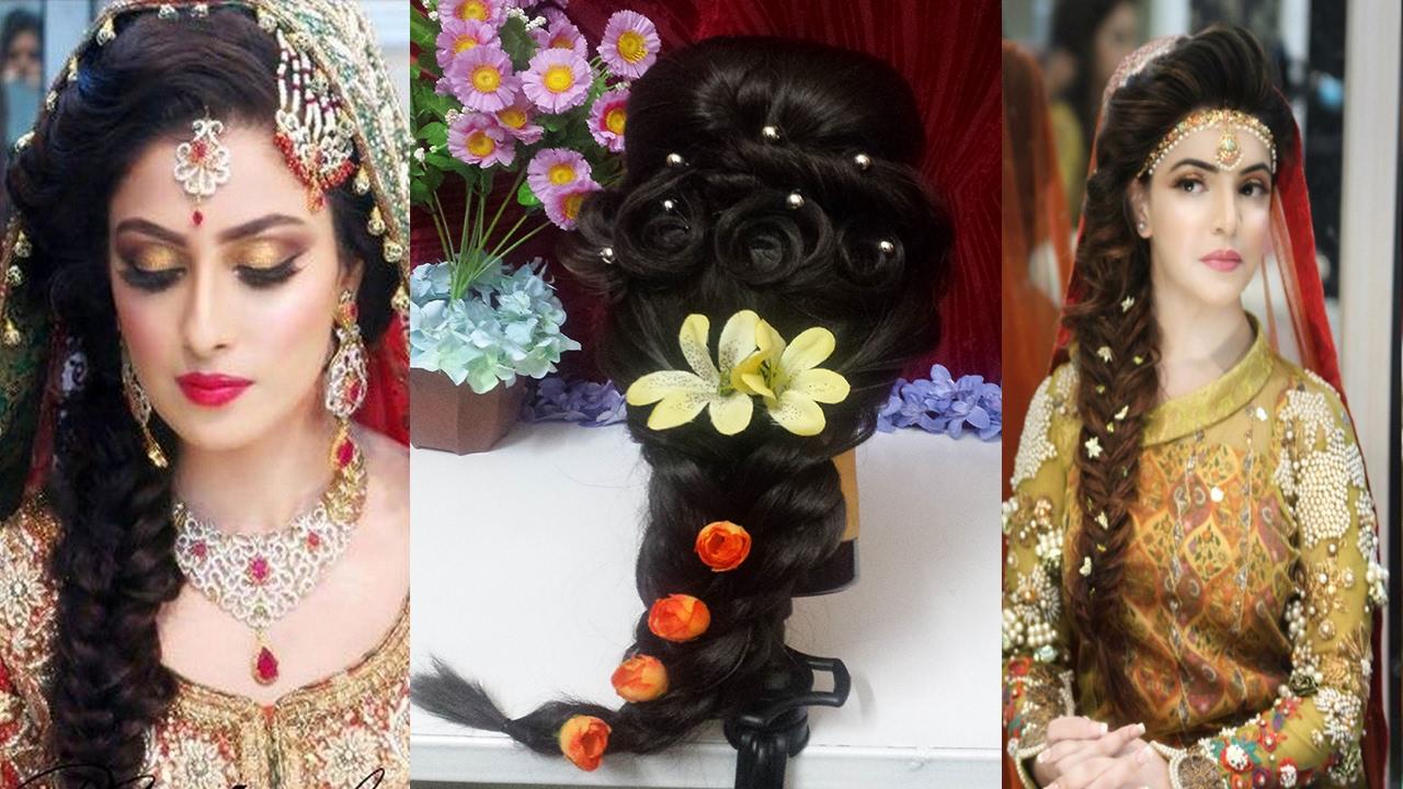 mayon & mehndi hairstyle tutorial🌟 pakistani/indian bridal hairstyles