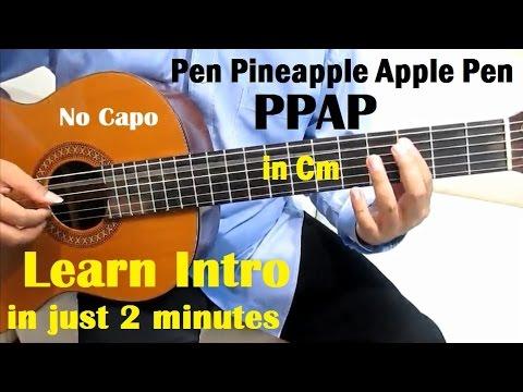 Ppap Pen Pineapple Apple Pen Guitar Tutorial No Capo Intro In Cm