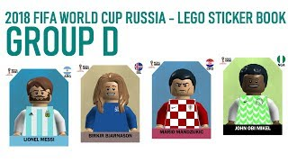Lego World Cup Sticker Book - Russia 2018 - Group D