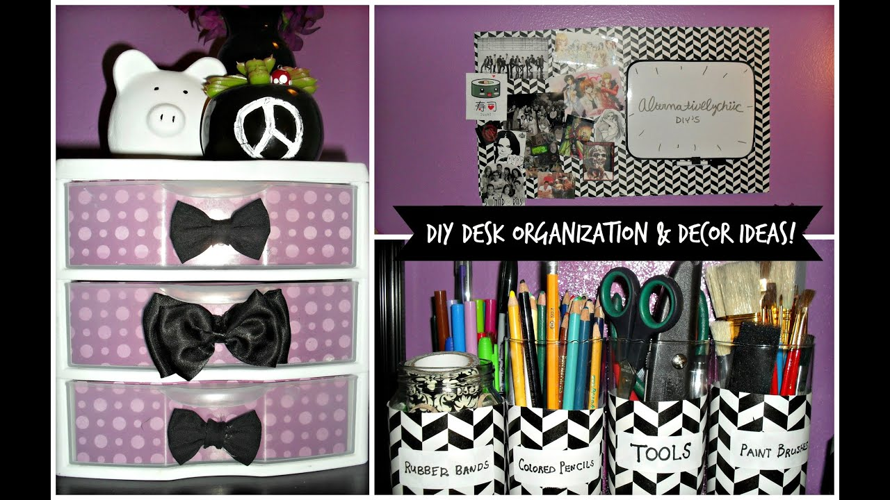 Diy desk organization decor ideas youtube for Room decoration products