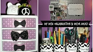 Diy Desk Organization & Decor Ideas!