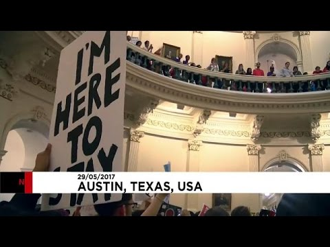 Hundreds protest at Texas legislature's move to ban sanctuary cities