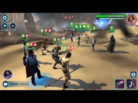 SWGOH Territory Battles: Khazar White scrambled team attacking