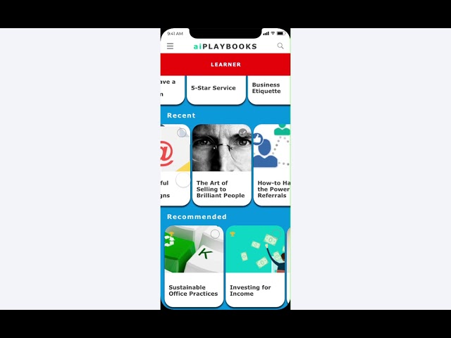 Learner App Overview