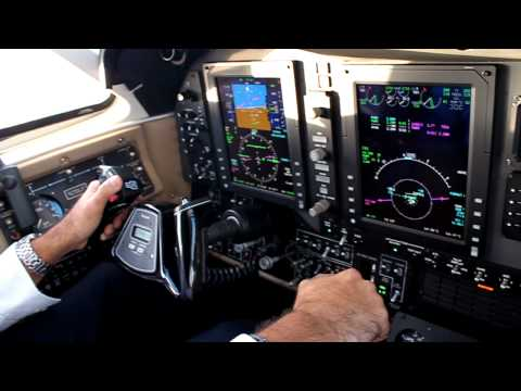 Super King Air B200 aircraft landing