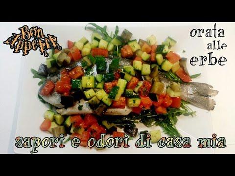 Ricetta del Giorno Orata alle Erbe,Recipe of the Day Sea bream with herbs,日鲷鱼草药配方,