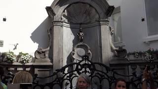 Брюссель. 1 день. Собор Сен-Мишель.Гран-Плас.Писающий мальчик