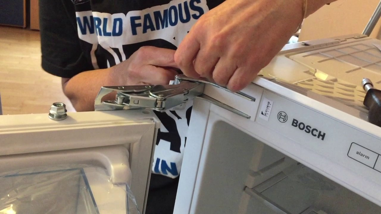Bosch Kühlschrank Einbau Mit Festtürmontage : Bosch gefrierschrank einbauen hd p youtube