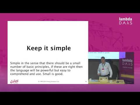 Robert Virding - On Language Design (Lambda Days 2016)