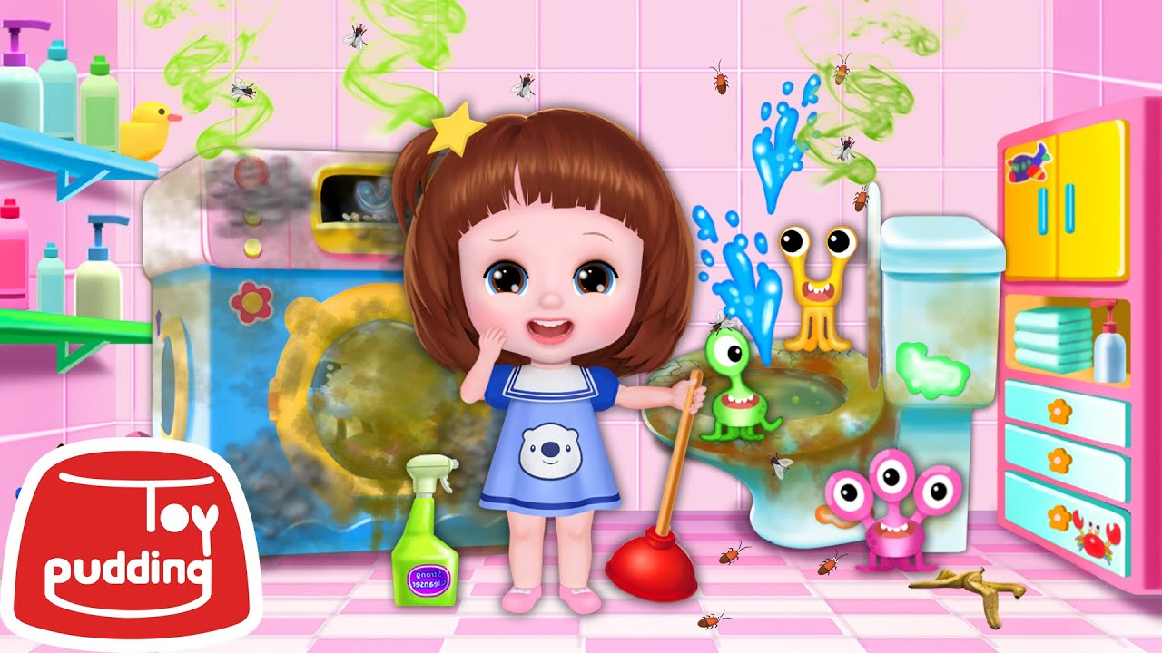 Baby Doli fantastic house clean up learning game play