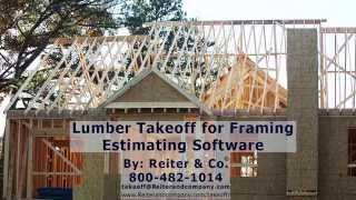 Lumber Takeoff Estimating Software for Framing