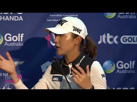 Lydia Ko after round one 2018 ISPS Handa Women's Australian Open