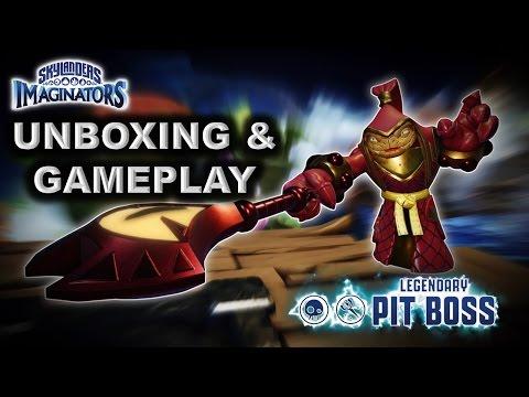 Skylanders Imaginators - LEGENDARY PIT BOSS - UNBOXING & GAMEPLAY