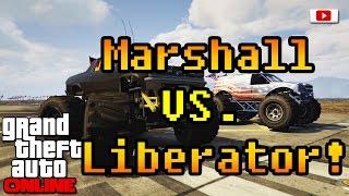 Grand Theft Auto 5 Online - Marshall VS. Liberator! (Monster Truck Test/PlayStation 4)