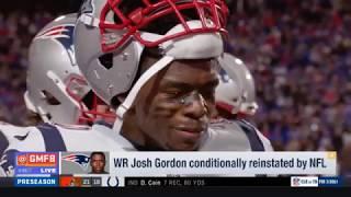 Patriots WR Josh Gordon conditionally reinstated by NFL