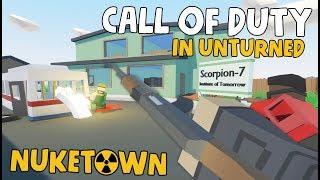 CALL OF DUTY in Unturned! (Nuketown Team Deathmatch)
