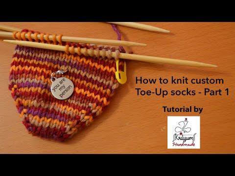 Tutorial 6 How To Knit Custom Toe Up Socks Part 1 Cast On With