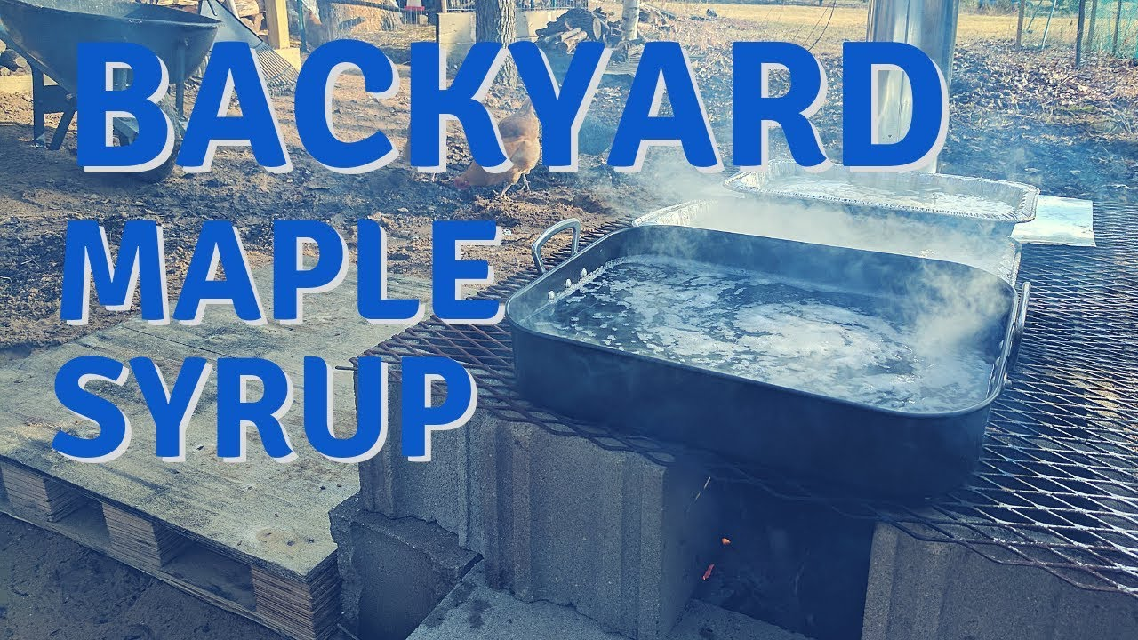 #selfsufficient #homestead #maplesyrup - Backyard Maple Syrup Part 2 - Makeshift Evaporator And Bottling