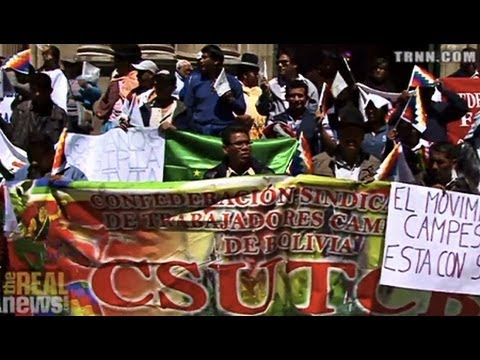 Bolivians Protest US Attack On Syria