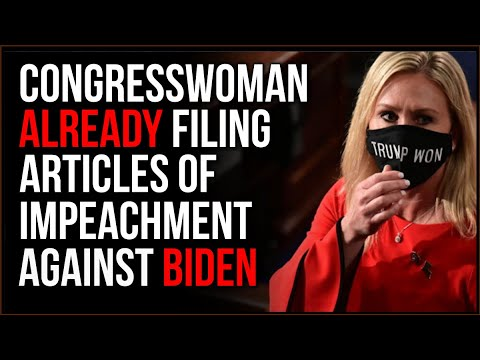 Freshman Congresswoman Files Impeachment Against BIDEN, The Drama Is Continuing From The Other Side