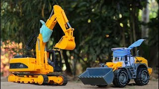 Construction vehicles toys for kids | John & Jame | Excavator , Wheel loader - Video For kIds