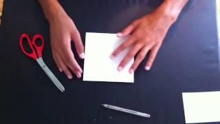 """Faire un """"pouet-pouet"""" en papier - Pliages faciles - Cocotte en origami"""