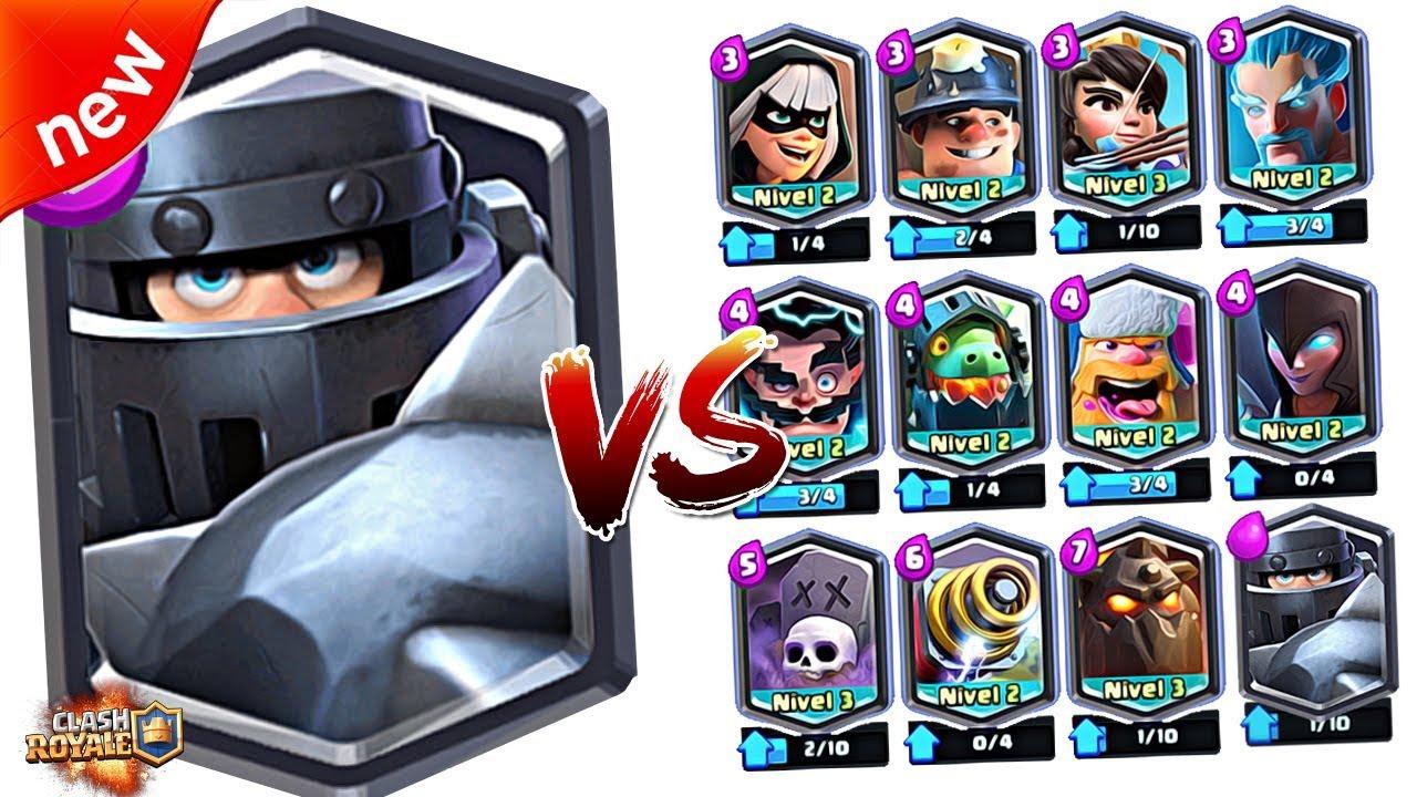 Mega Knight Vs All Legendary In Clash Royale