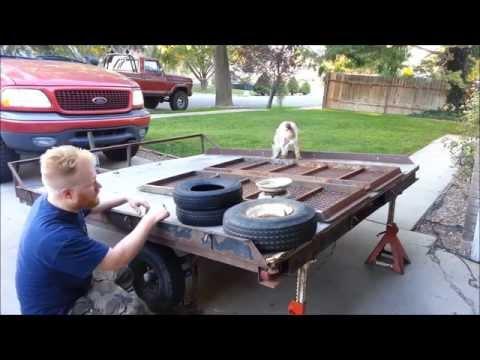 Snowmobile Tilt Trailer Rehab Restore