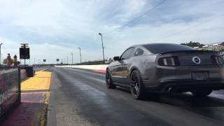 Bolt on coyote 1/4 mile. 11.5 seconds