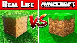 REAL MINECRAFT BLOCKS vs FAKE MINECRAFT BLOCKS!