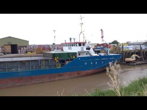 Cargo ship in wisbech docks