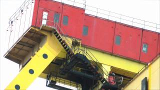 Biggest cranes in the world , Samson and Goliath .