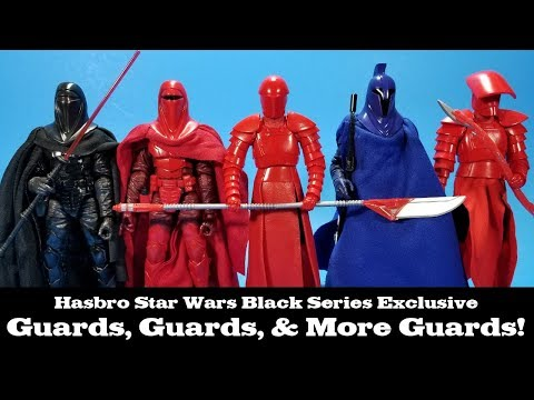Star Wars Black Series Guards of Evil and Amazon Exclusive Praetorian Guard Hasbro Review