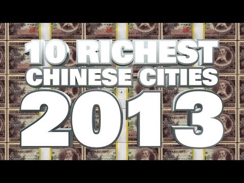 Top 10 Richest Cities In China 2013