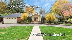 Video of 7750 SW Linden Rd | Portland, Oregon Real Estate & Homes for Sale