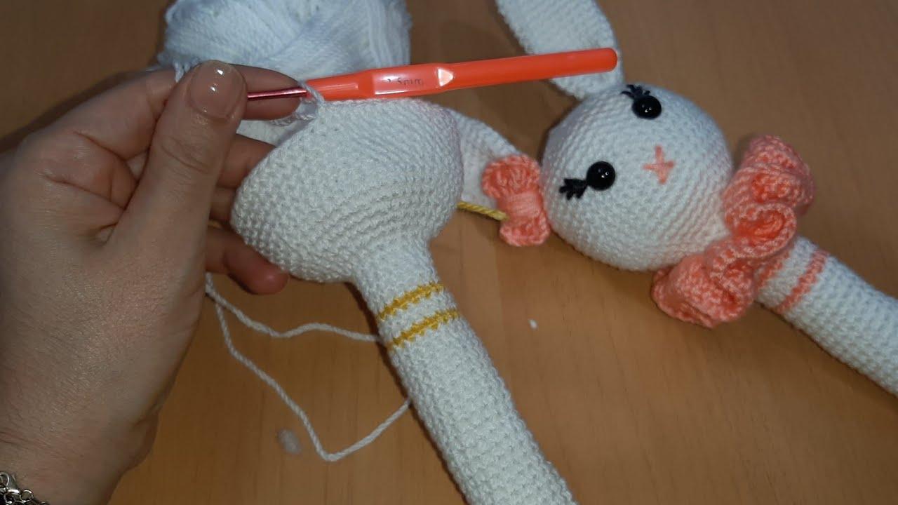Amigurumi çıngırak tavşan anlatımı bölüm 1 /tavşan çıngırak/amigurumi  oyuncak