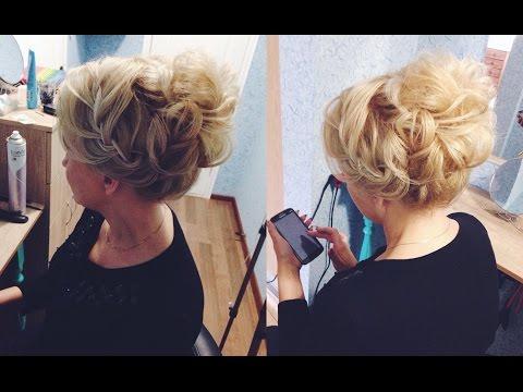 Подготовка волос к прическе. Основа для высокого пучка из локонов. LOZNITSA