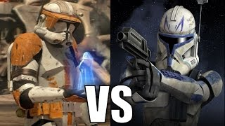 Commander Cody vs Captain Rex