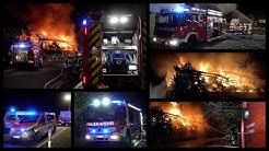 ++ Großbrand beim Golfclub ++ Mehrere FEUERWEHREN aus dem LANDKREIS BÖBLINGEN im EINSATZ - [E]