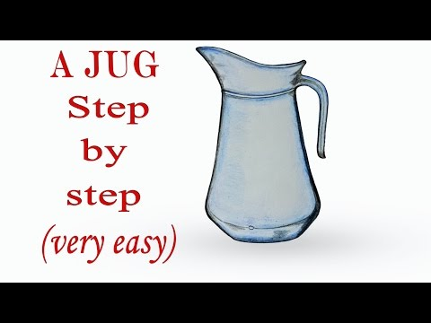 How To Draw A Jug Step By Step Very Easy Art Video Youtube