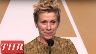 Frances McDormand on Winning Best Actress | Oscars 2018
