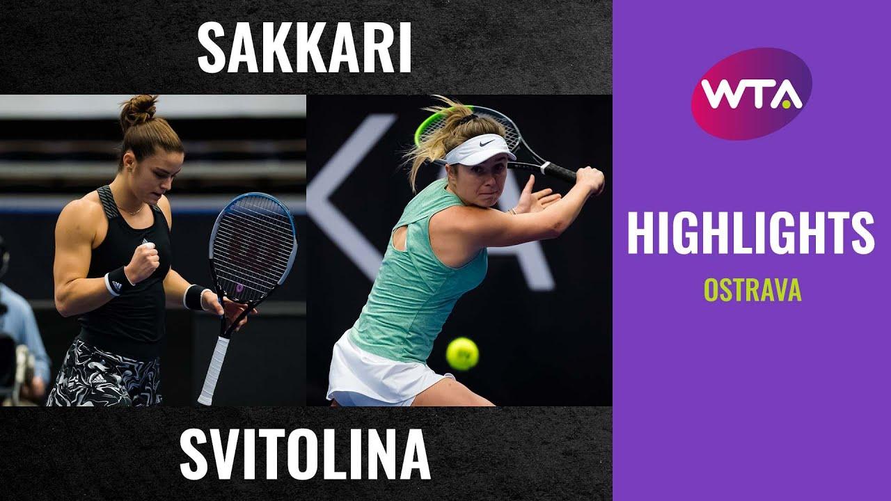 Maria Sakkari vs. Elina Svitolina | 2020 Ostrava Second Round | WTA Highlights