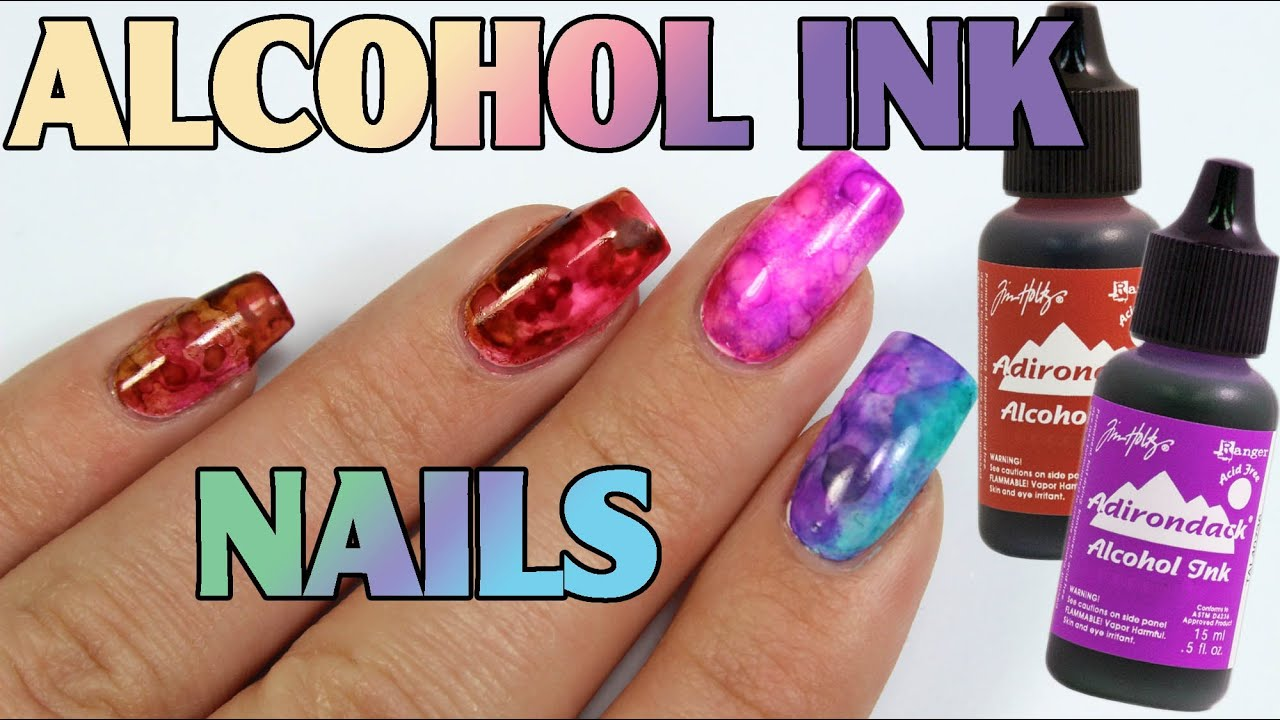 Alcohol Inks Grant Marble Nail Art Tutorial Over Regular Polish