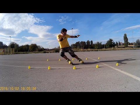 My Freestyle Skating ,Tricks and Slides- SEBA FR1 Yellow-Voznja Rolera(Trikovi)
