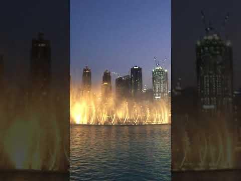 Dancing fountains at Dubai Burj Khalifa