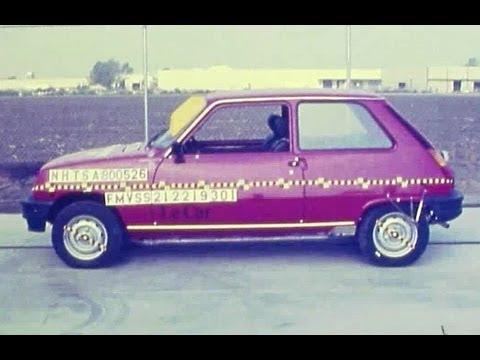 1980 Renault 5 (R5/Le Car) Frontal Crash Test By NHTSA | CrashNet1