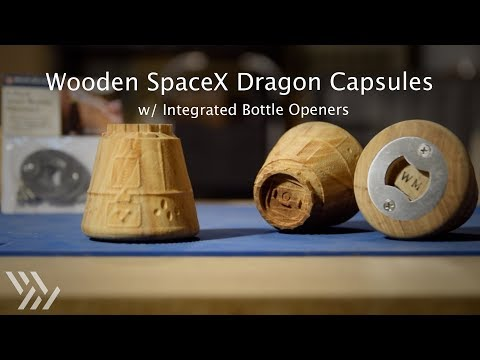 Machining a Wooden SpaceX Dragon Bottle Opener - #125