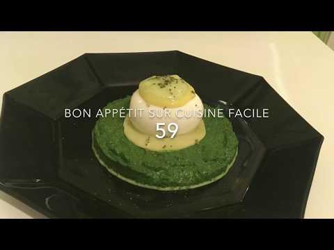 recette-Épinards-frais-œuf-mollet