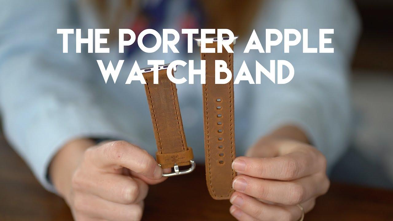 94c5c1317 Full Grain Leather Apple Watch Band - Porter - Espresso Brown - Arrow &  Board